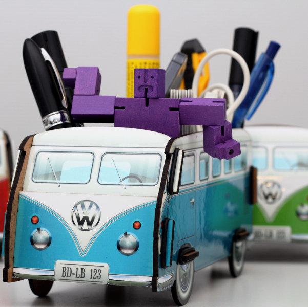 Настольный органайзер VW T1 Camper - синий от BadLab