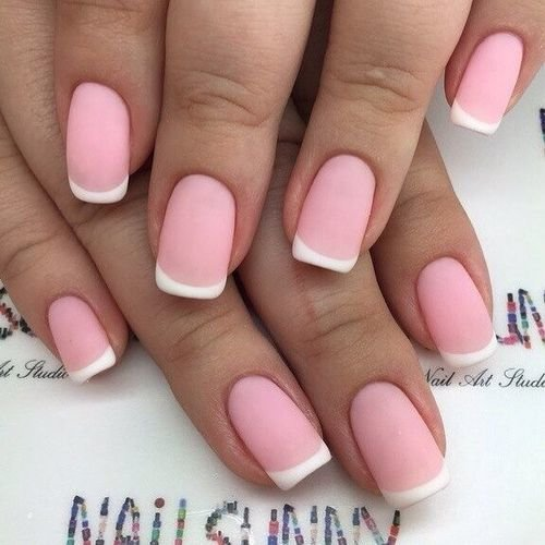 розовый-французский маникюр фото