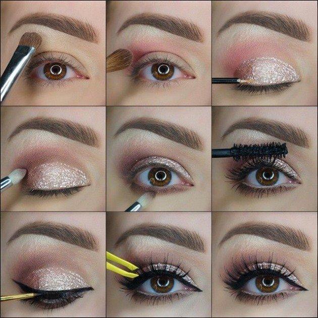 Простой макияж на новый год