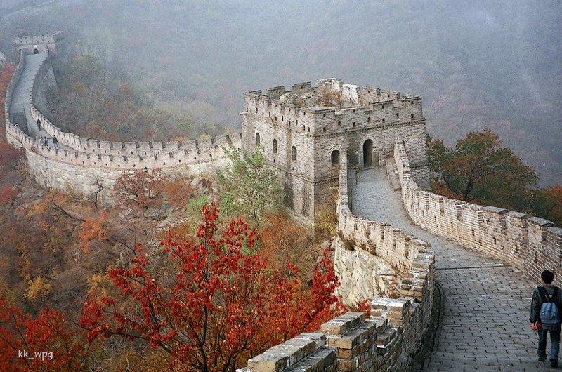 Участок Великой Китайской стены Мутяньюй, Пекин, Китай.