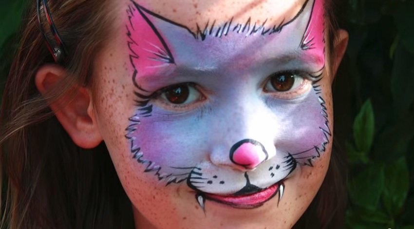 face painting cat - 850×470