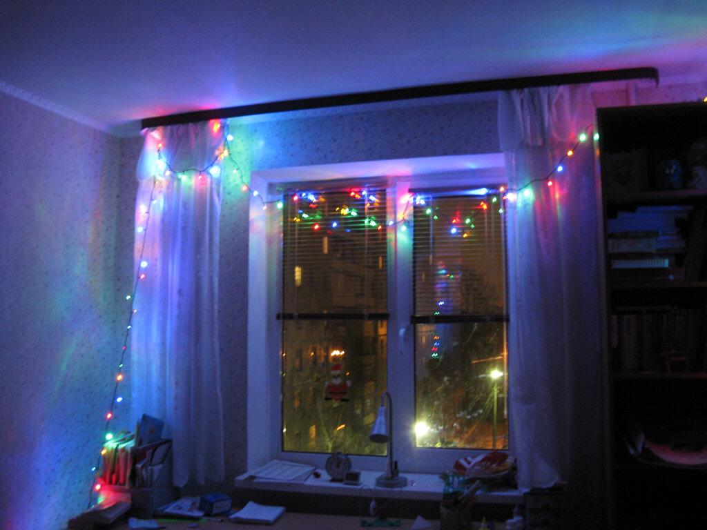 картинки как украсить окно гирляндой заставок появляется каждым