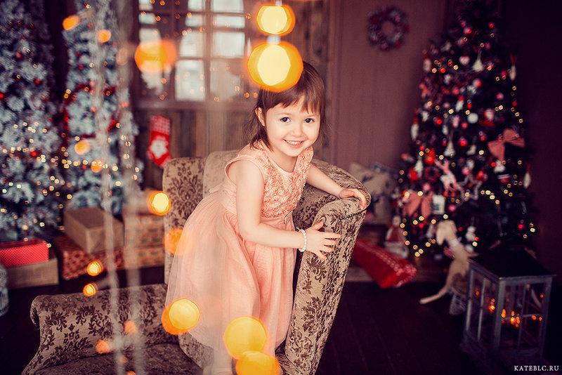 Фотосессия на новый год в Москве. Детский фотограф Катрин Белоцерковская. Kateblc.ru