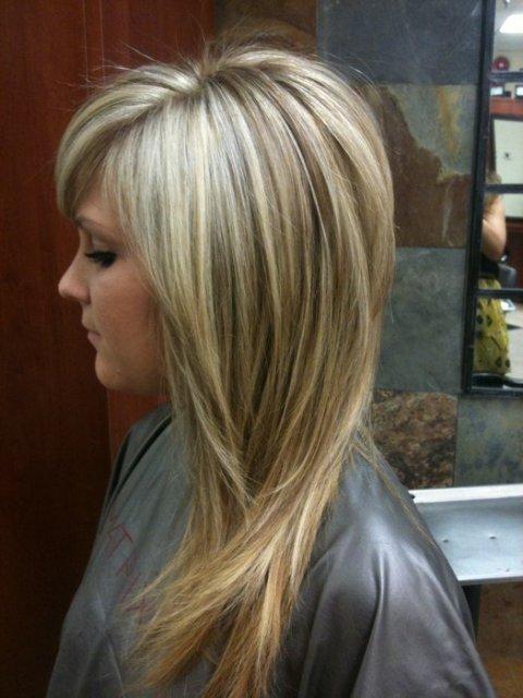 Фото светлых волос с мелированием
