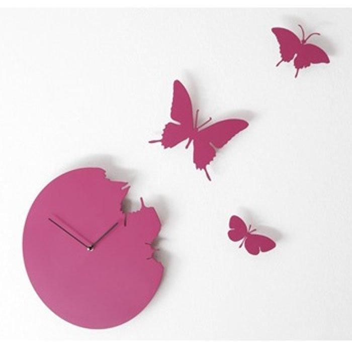 Часы Розовые бабочки