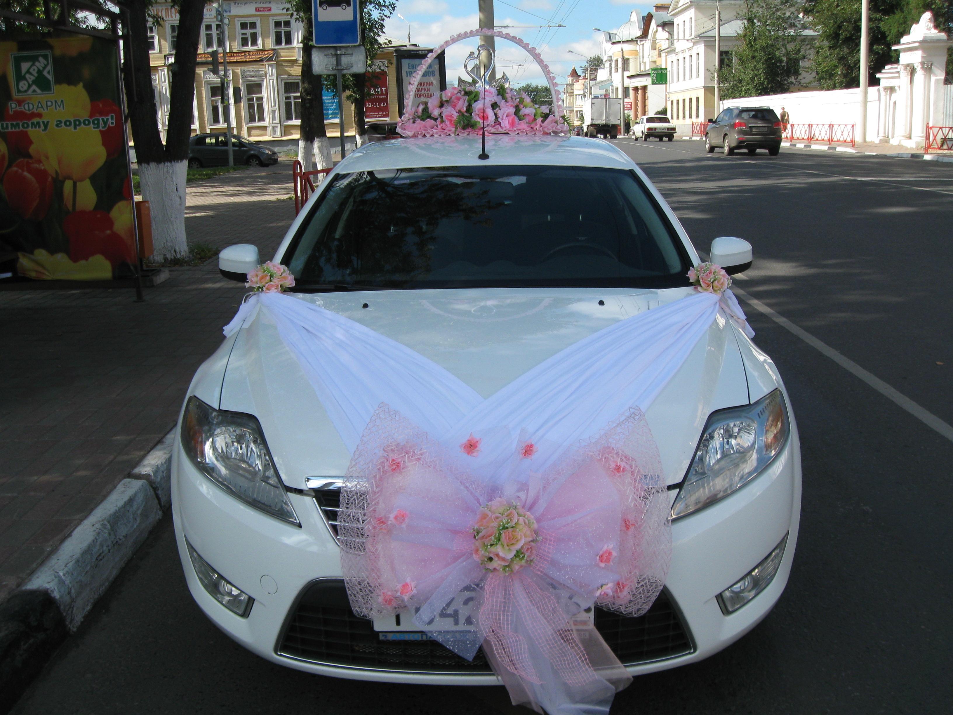Свадебные украшения на машину своими руками. Как украсить 60