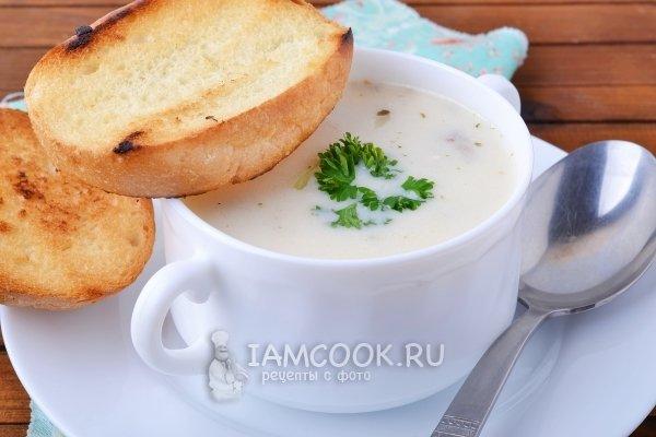 Сырный суп с плавленным сыром детям