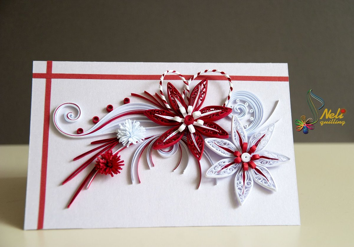 Квиллинг мастер-класс открытка, праздником байрам