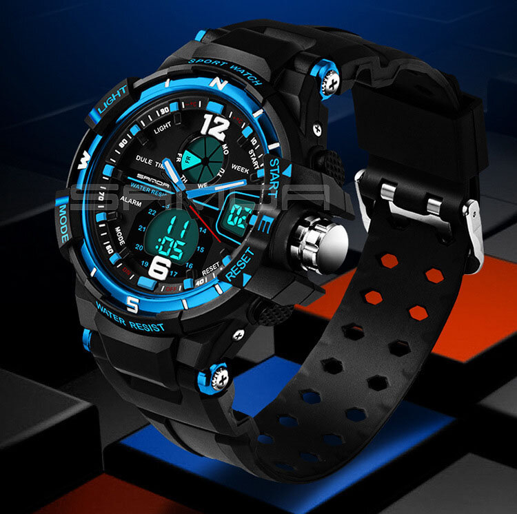 смотреть поверхности Picture from Geneva Watches store about SANDA Fashion Watch Men Waterproof LED Sports Military Watch Shock Resistant Men's Analog Quartz Digital Watch relogio masculino Picture, часы скорость Picture, смотреть вольфрама Picture and more on Aliexpress.com