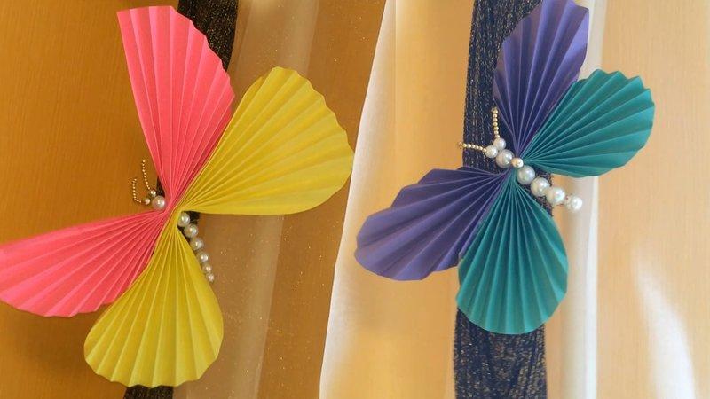 Бабочки своими руками / Поделки из бумаги и бисера - YouTube