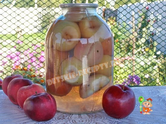 яблок зиму Рецепт на компота из свежих