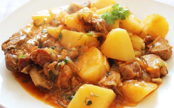 Жаркое рецепты картофелем фото