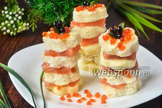 Готовим праздничные закуски  Канапе с красной рыбой, сыром и икрой