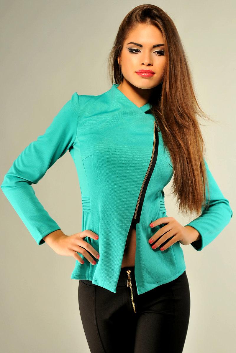 женский пиджак на молнии фото