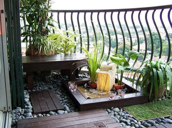 """Необычное оформление открытого балкона."""" - карточка пользова."""