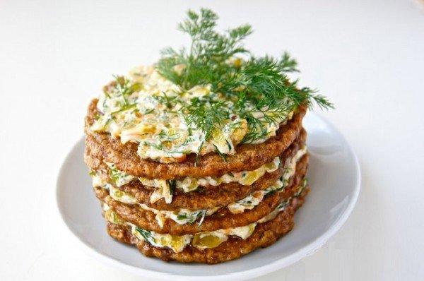 печёночный торт с грудинкой рецепт с фото пошагово