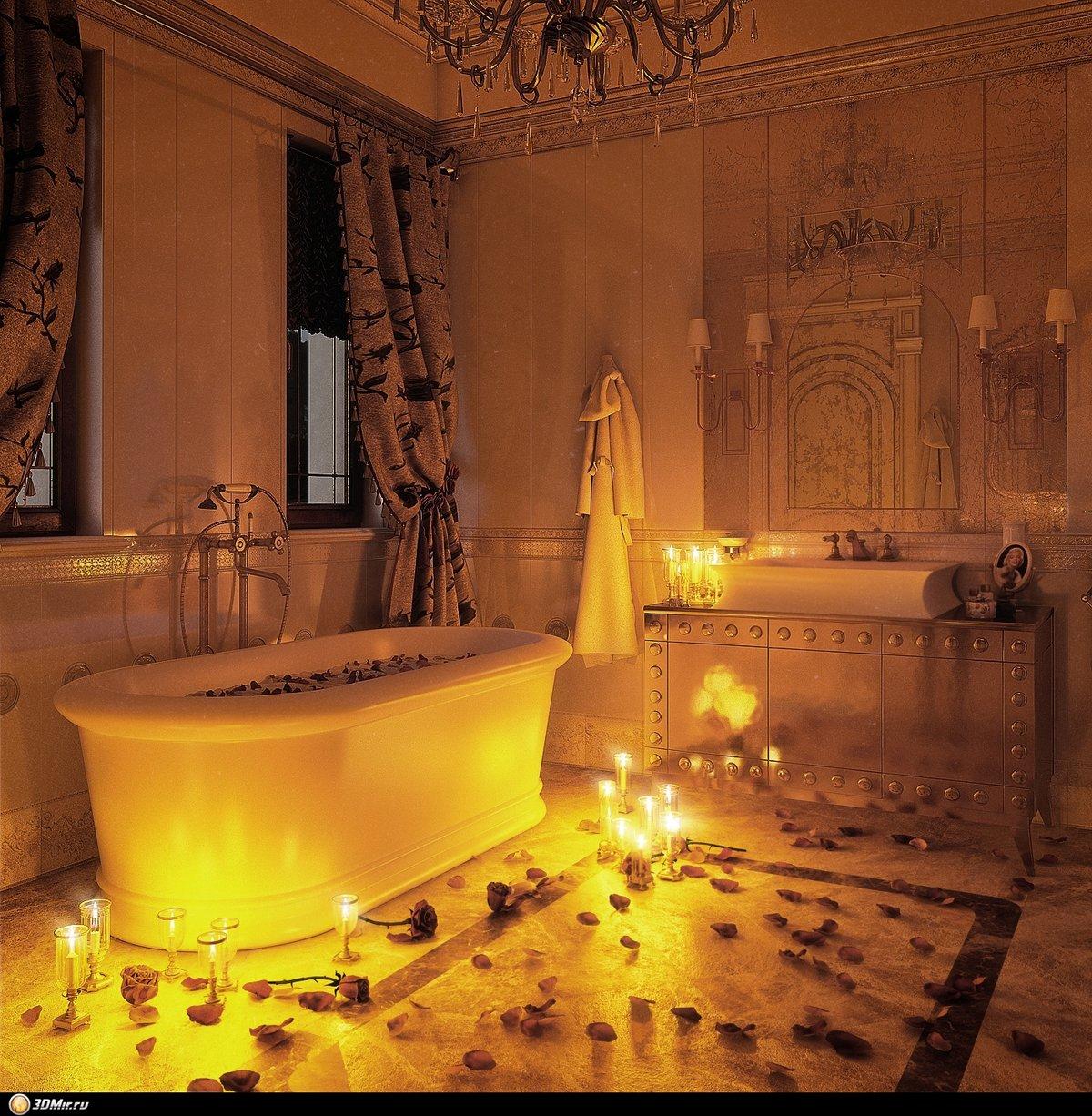 при фото спальни при свечах это