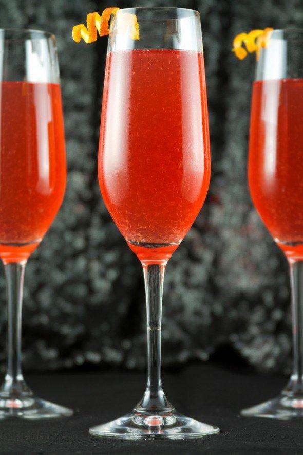Коктейль Оскар на основе шампанского
