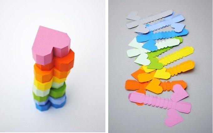 Бумажный поделки сердечки. Как делать оригами Любители 3D-фигур выдумали схему для создания объемной поделки в форме сердца из бумаги.
