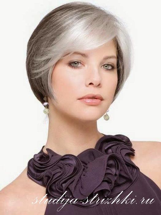 стрижки женские на седые волосы