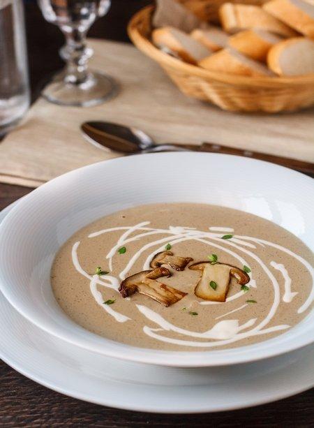 суп пюре из белых грибов свежих рецепт с фото