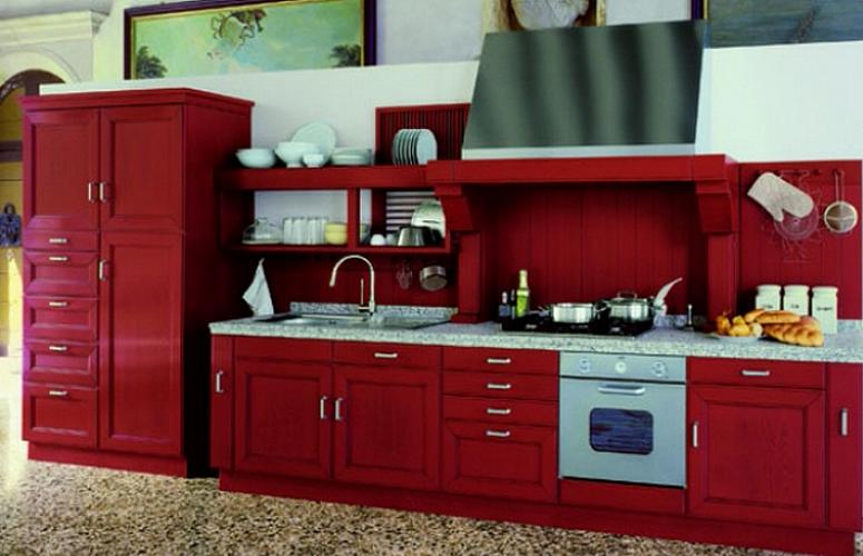 Вишневая кухня 4 метра в стиле кантри: фото, планировки, интерьер кухни.