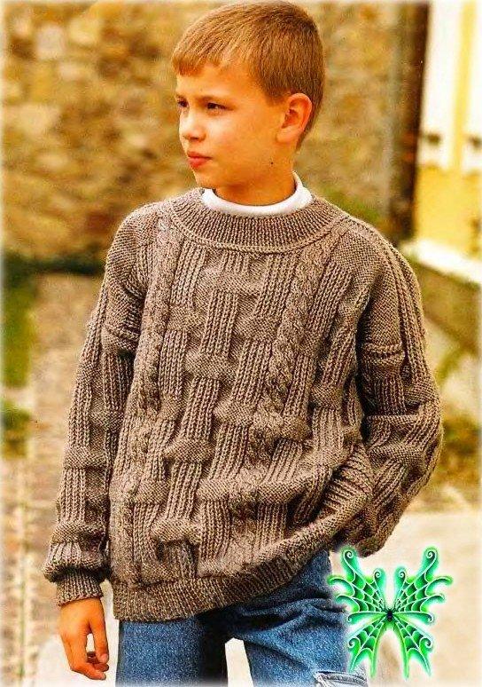 Вязанный джемпер для мальчика 7 лет 73