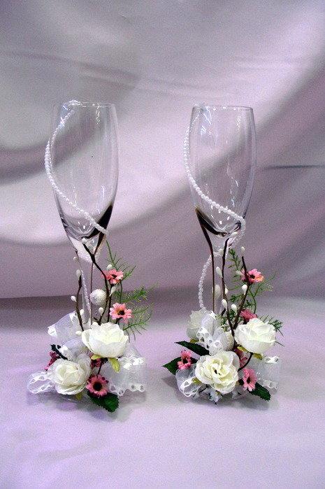 Цветы в бокалах своими руками фото