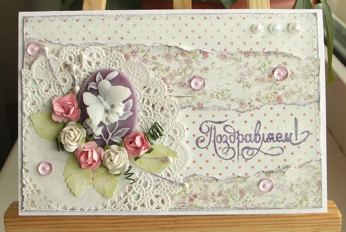 Скрапбукинг мастер класс открытки на 8 марта