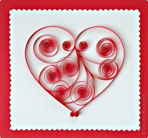 Днем, открытки с квиллинга к дню влюбленных