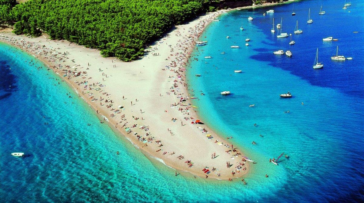 пляж золотой рог в хорватии фото