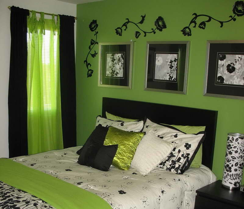 фото комнати в салатовом цвете