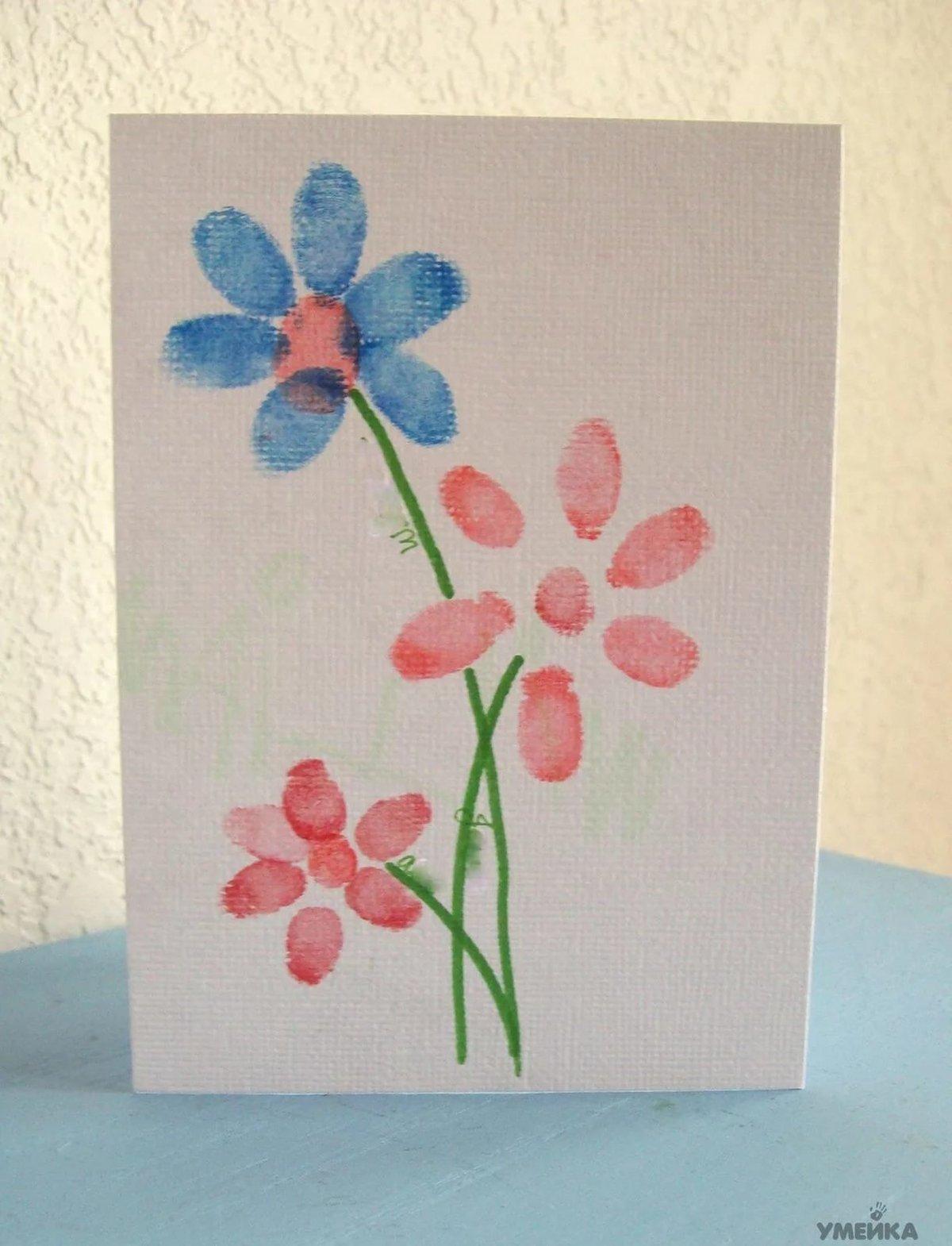 Спокойной ночи, как нарисовать цветы для открытки своими руками