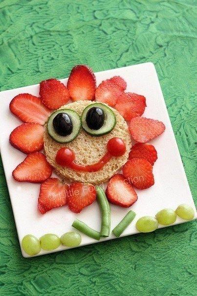 Креативное оформление детских блюд из фруктов и ягод
