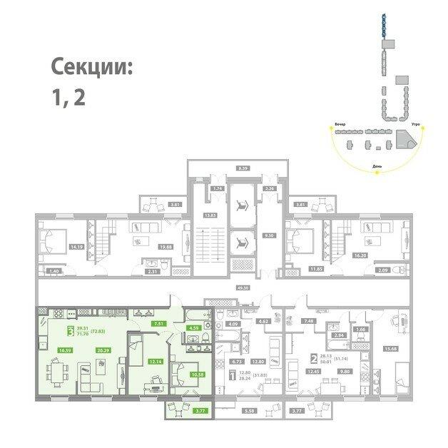 Квартиры новостройке на зеленом мысу. Лучшие планировки квартир. Сравнить цены. Сроки сдачи. Как добраться.