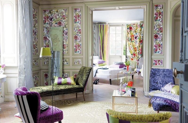 Цветочные обои - флористический романс в изящном интерьере