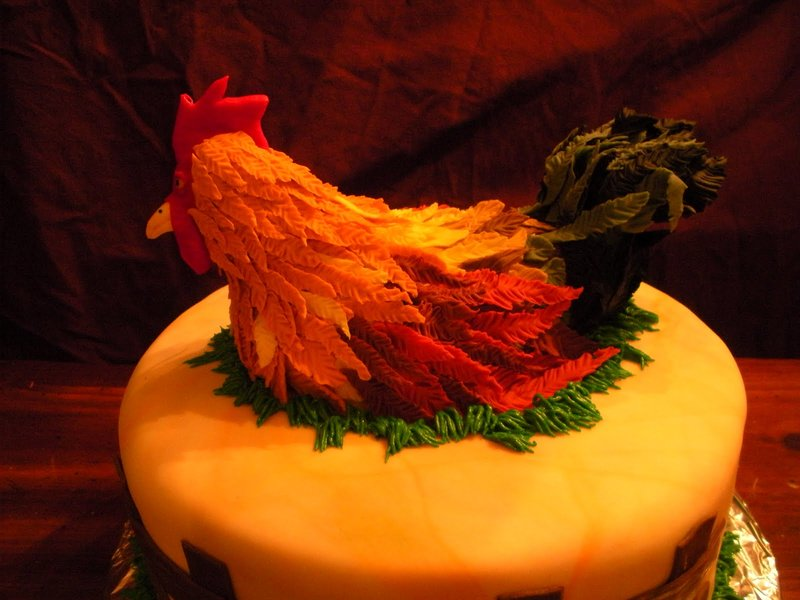 Торт с петухом