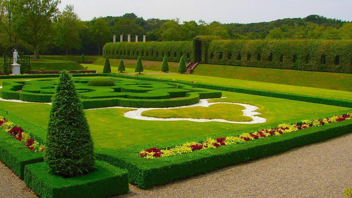 Full Hd 1080p Garden Wallpapers Desktop Backgrounds 1920x1080 Preview Wallpaper Lawn Park Design Green Cloudy Best