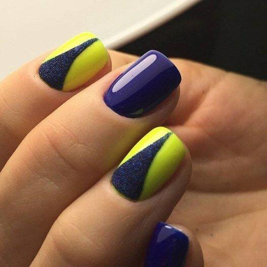 Psiu Noiva - Paleta de Cores Azul Royal e Amarelo
