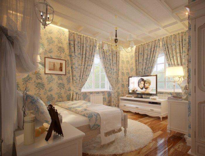 Спальня в стиле прованс в хрущевке