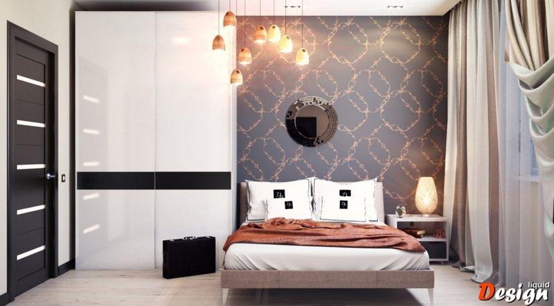 кровать для мужской спальни в стиле минимализм