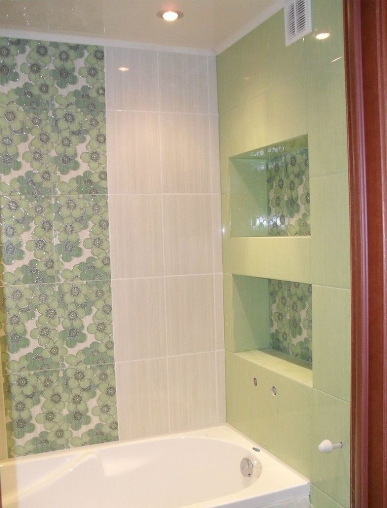 встроенные полки в ванной из гипсокартона