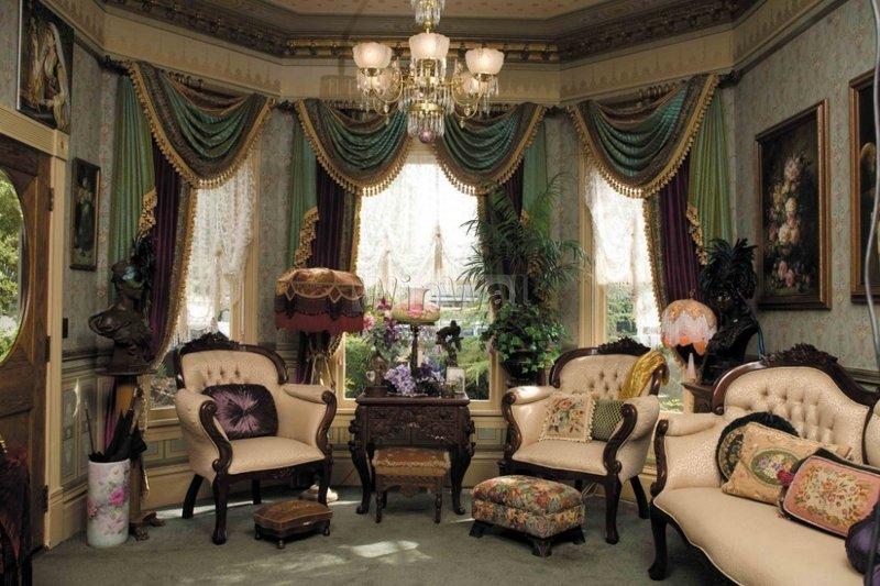 Шторы в викторианском стиле. Заказать пошив штор в викторианском стиле