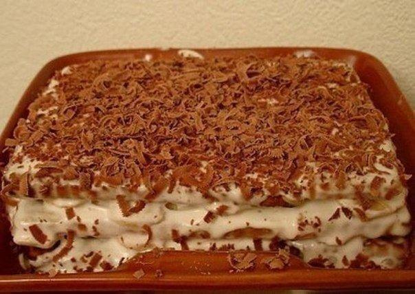 Бананы для торта нужно брать очень спелые, так будет вкуснее.