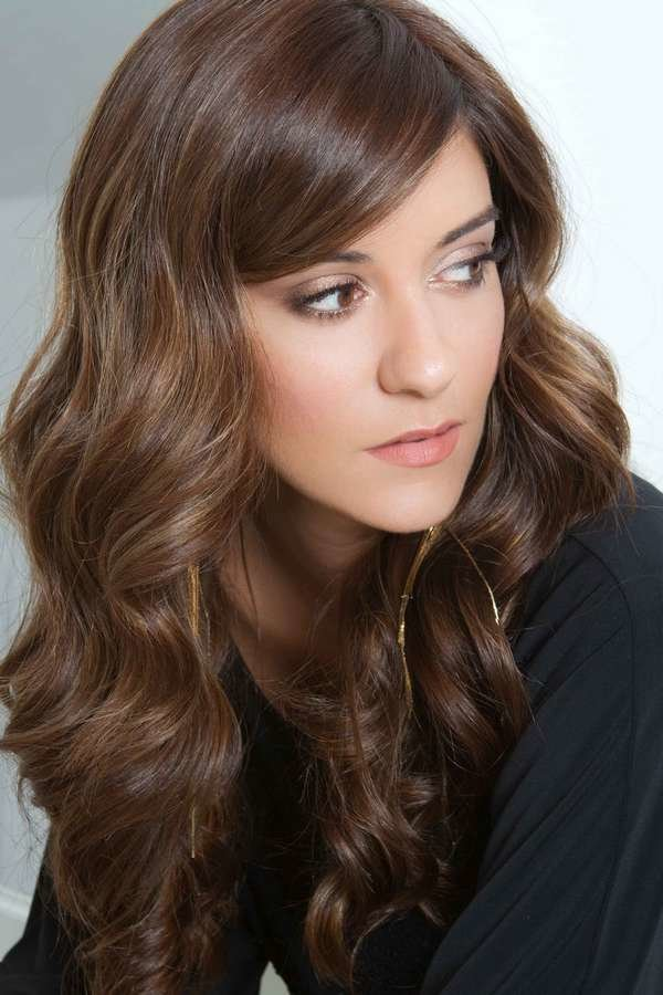 Фото покраска коричневых волос