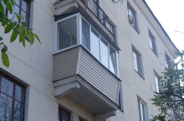 Балкон хрущевки днепропетровск, ремонт, увеличение балкона х.