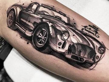 Авто и мото татуировки