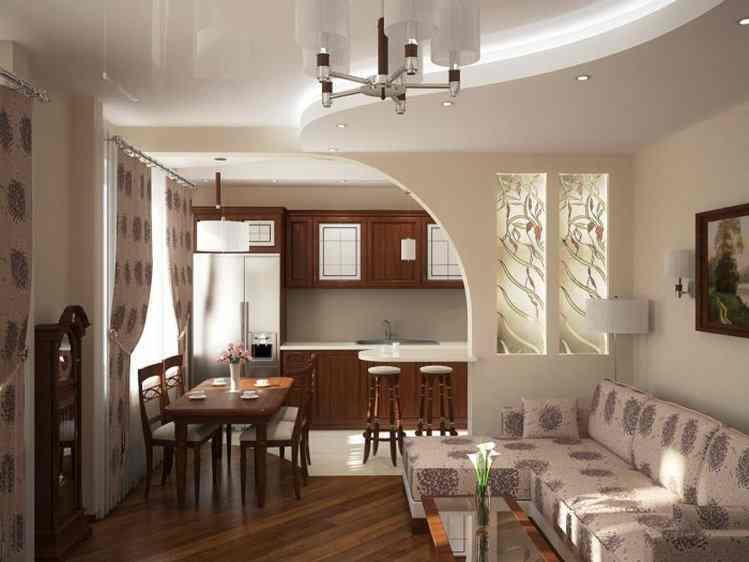 кухня совмещена с залом дизайн приметы