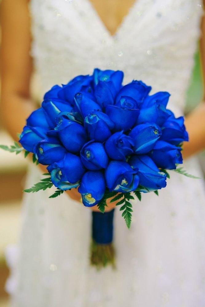 Букет из синих роз на свадьбу для невесты ахтубинск заказ цветов