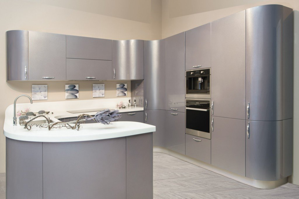кухонный гарнитур серый фото словам